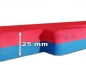 Sportag® Fitness and Martial Arts Mat 25 mm (red-blue)