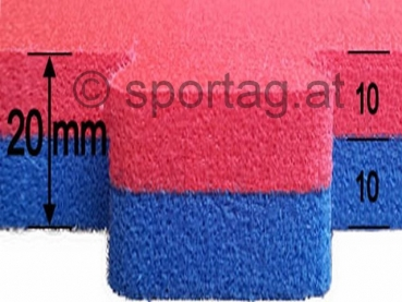 Trocellen Fitness and Martial Arts Mat 20 mm, WKF (red-blue)